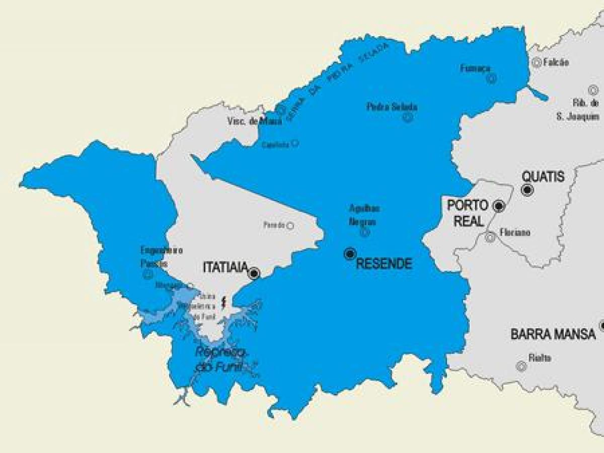 resende mapa Resende munisipalidad mapa   Mapa ng Resende munisipalidad (Brésil) resende mapa